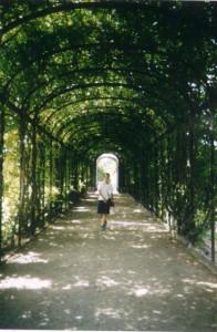Durchgang im Gelände des Schloss Schönbrunns