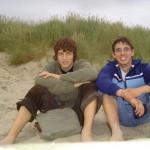 Ich und Martin am Strand
