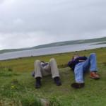 Beim Ring of Brodgar auf den Orkneys