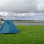 Zeltplatz zwischen zwei Seen