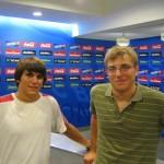 Reto und Ruedi in der Interviewstrasse