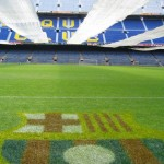Schattenspender für den Camp Nou Rasen