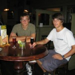Reto und Ruedi im Irish Pub