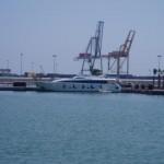 Yacht im Americas Cup Hafen