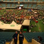 Adrian und Simon nach dem Rennen im BC Place Stadium