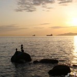 Sicht vom Stanley Park auf das Meer