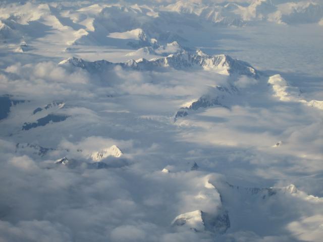 Flug von Vancouver nach Anchorage, Alaska