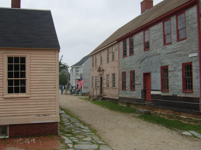 Strawbery Banke Historic District in Portsmouth, New Hampshire