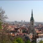 Blick über Bratislava von der Burg