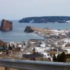 Sicht auf Percé Bay und den bekannten Percé Rock