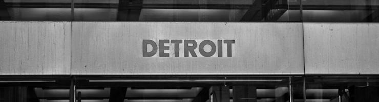 Detroit Ortsschild