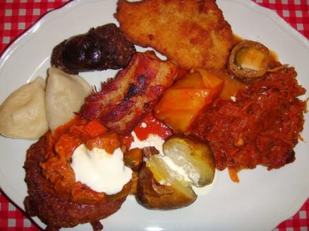 Polnische Spezialitäten in einem Restaurant in Krakau