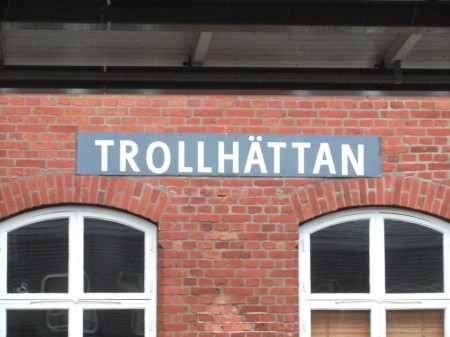 Zugfahrt nach Karlstad (Bahnhof Trollhttan)