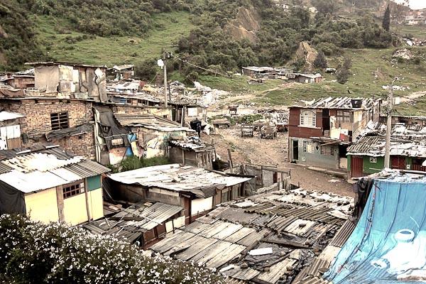 Umgebung des Kinderheims in Bogota